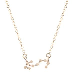 18K Gold Scorpio Zodiac Constellation Necklace